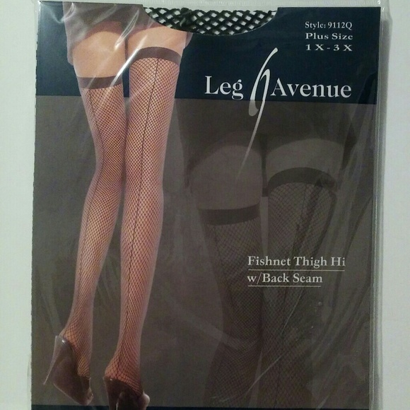 966f4e3dc6086 Leg Avenue Accessories | Plus Size Fishnet Thigh High Wback Seam ...